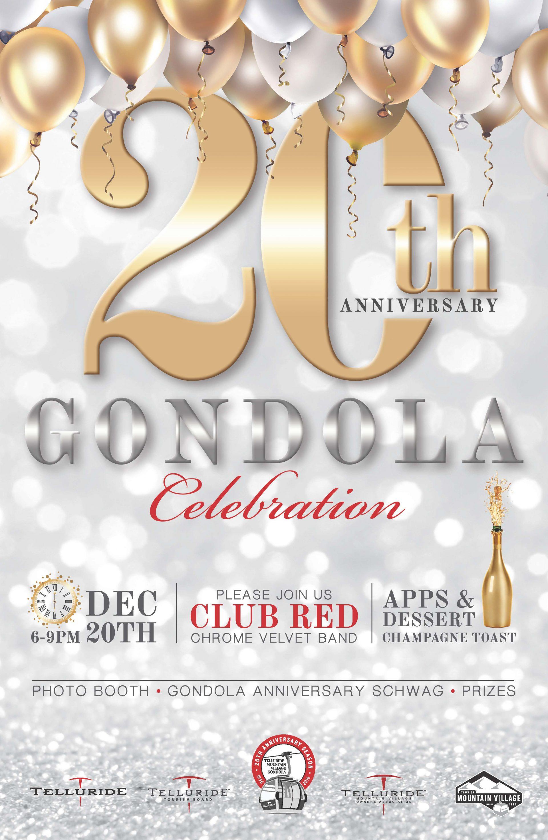 20th Gondola Anniversary Celebration