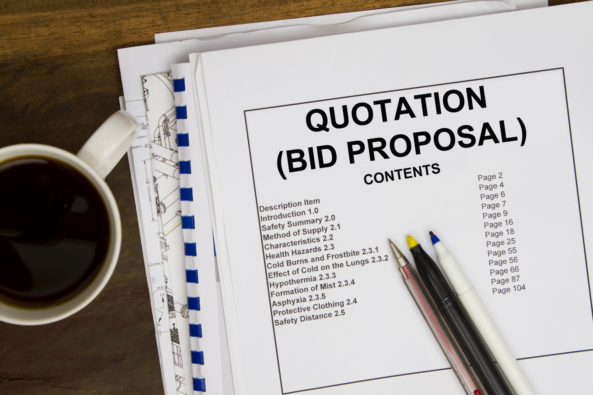 Bid Invitation and Proposal and Quote Request