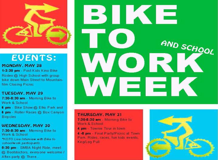 Bike To Work Week Flyer 2018