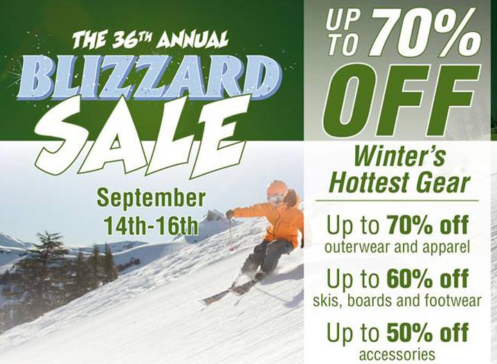 Blizzard Sale
