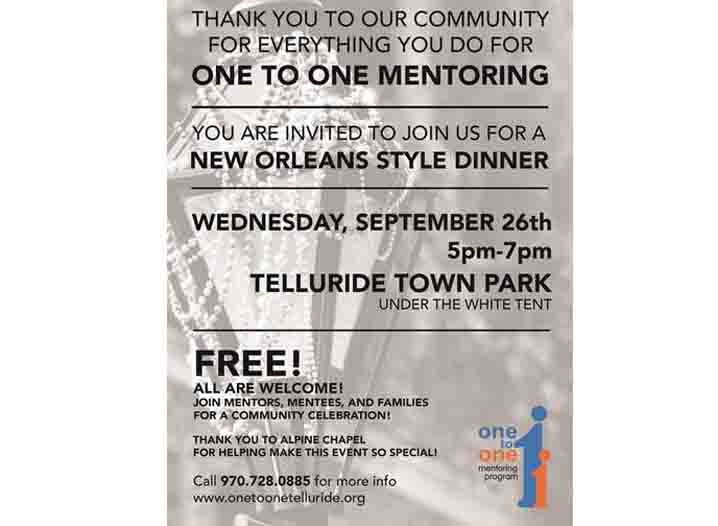 One to One Community Dinner Event