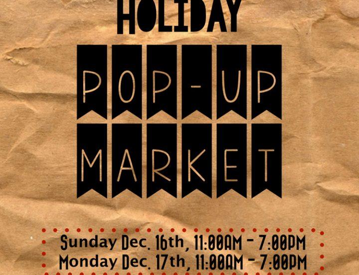 Pop Up Market Dec 2018