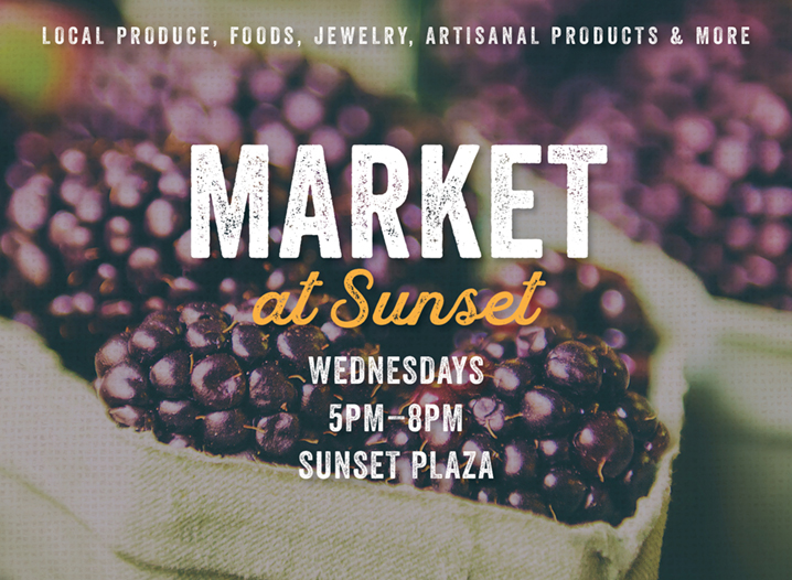 Market at Sunset